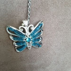 Claire's Used Blue Butterfly Necklace